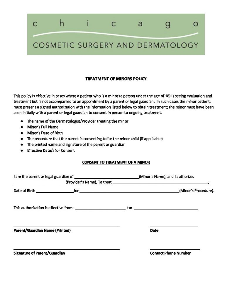 Patient Forms - Chicago Cosmetic Surgery and Dermatology