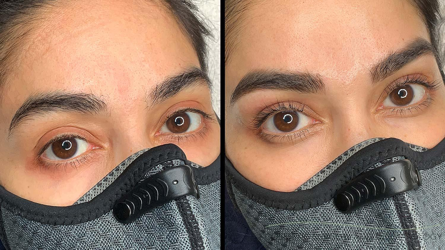 Eyebrow Wax Lash Lift Before and After