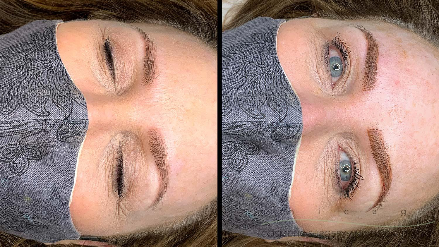 microblading touch up before and after
